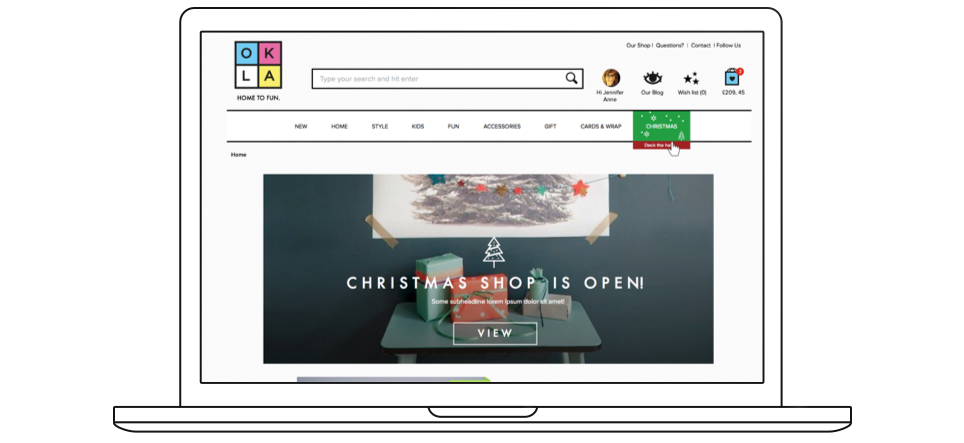 Designing  a new online shop: Oklahoma